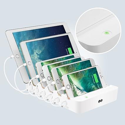 charger station elegiant 60w multi usb docking charger desktop rh amazon ca