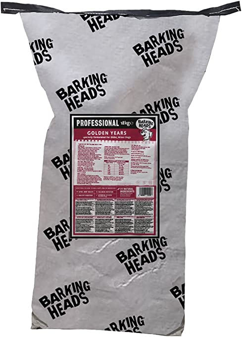 Barking Heads Barking Heads Comida Seca para Perros Mayores - Golden Years - 100% Natural, Pollo De Corral, Niveles De Grasa Y Proteína Óptimos para ...