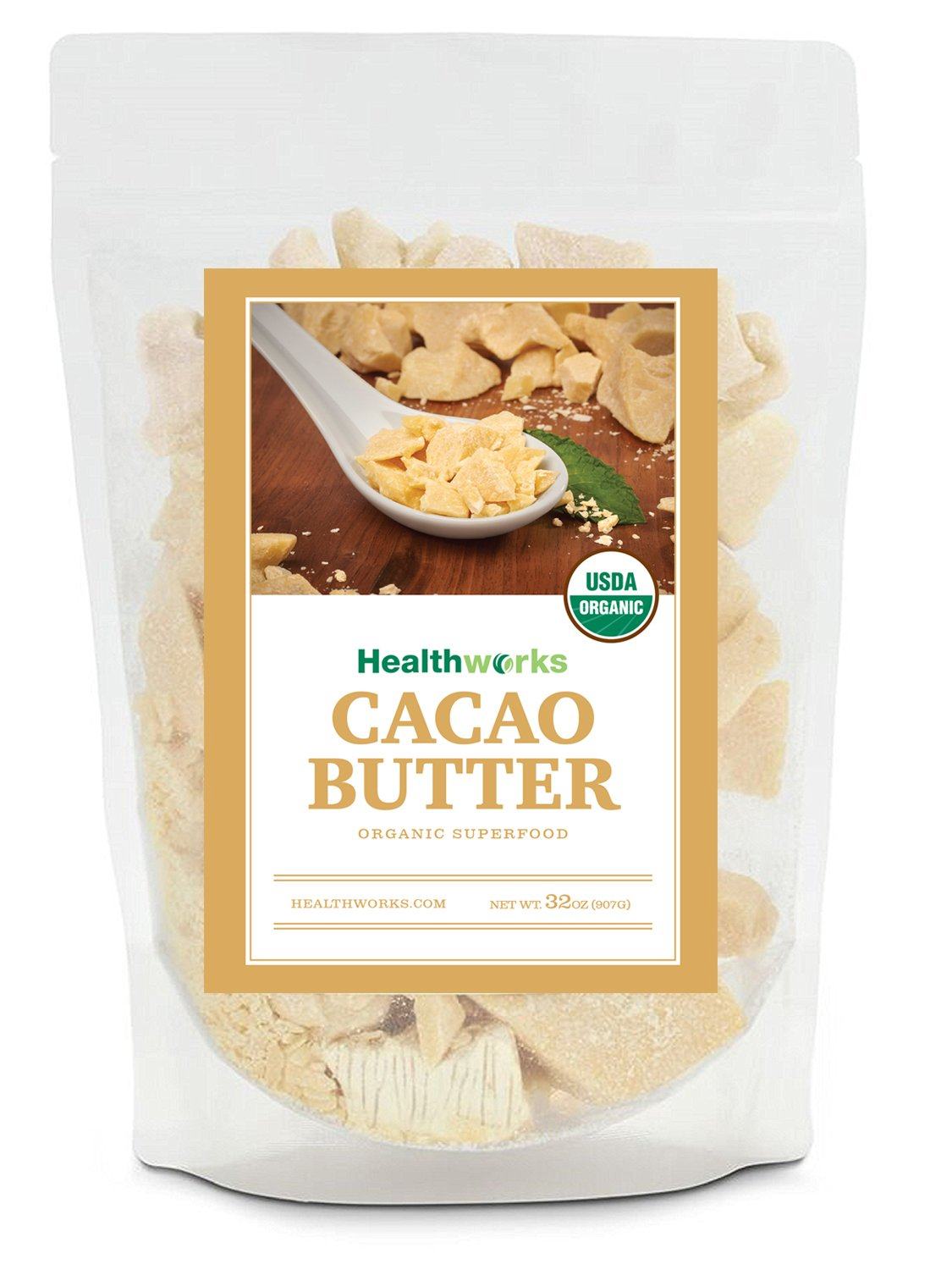 Healthworks Cacao Butter Organic, 2lb
