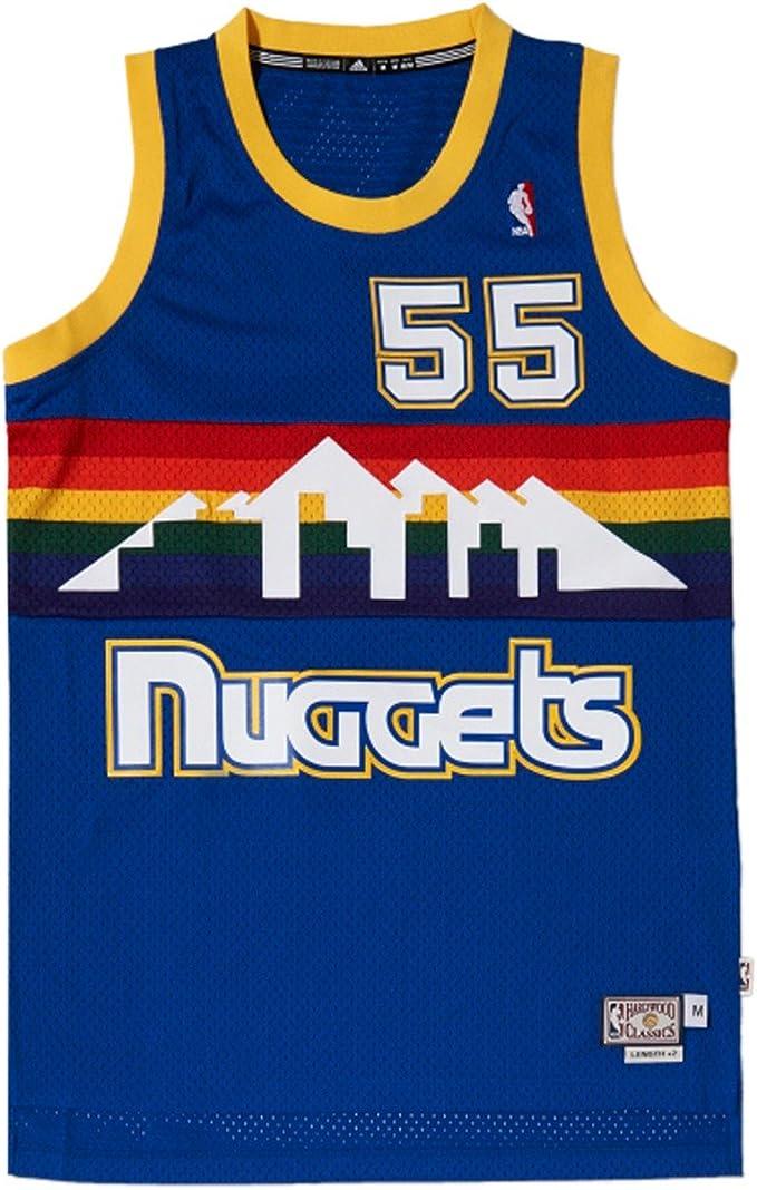 Adidas-Camiseta Maillot de Producto Dikembe Mutombo Denver Nuggets, Hombre, Color - Azul, tamaño US L: Amazon.es: Zapatos y complementos