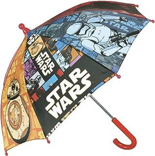 PERLETTI Ombrello Star Wars - Ombrello Bambino Resistente con Apertura Manuale di Sicurezza e puntine arrotondate e bloccate - Anni 3/6 50643