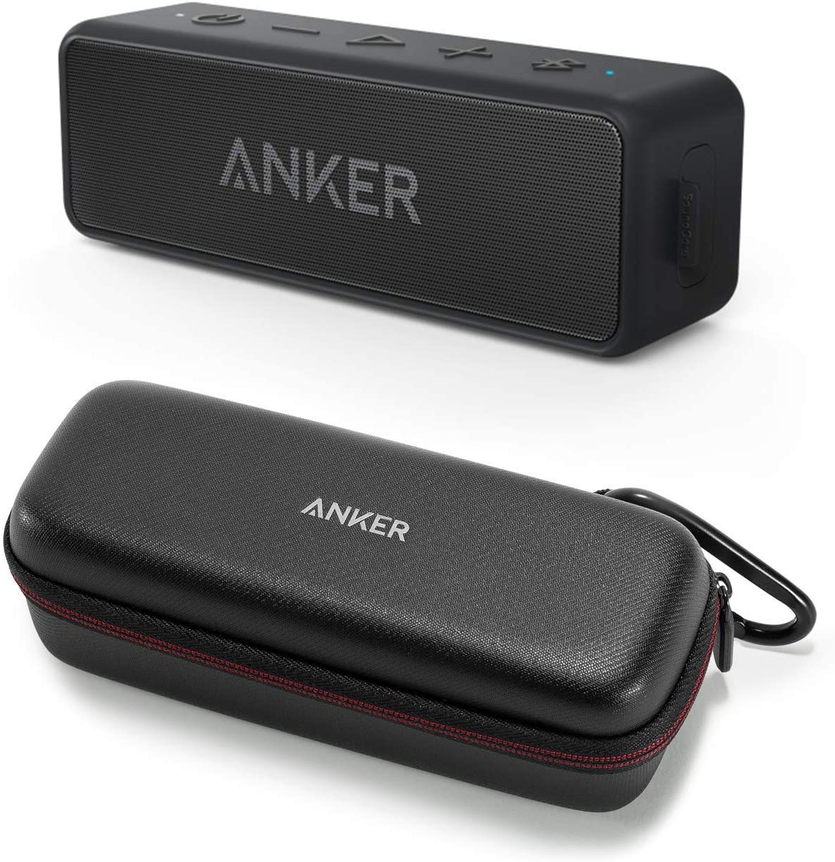 Anker Soundcore 2 Bluetooth Speaker Bundle with Official Travel Case