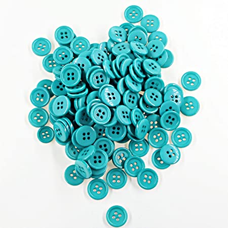 0.43 Round Resin Sewing Buttons for Craft Blcack Color Pack of 500 Pcs Leekayer 11.5mm