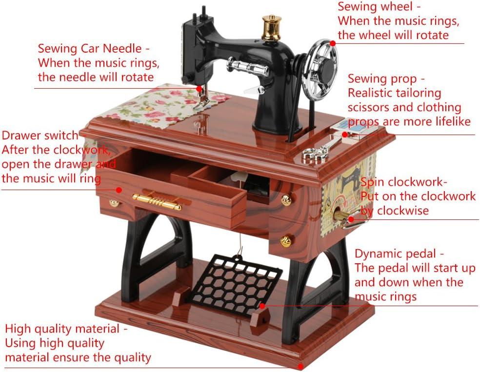 Caja de m/úsica movimiento Mini para decoraci/ón del hogar para ni/ños recuerdo caja de m/úsica mec/ánica caja de costura de m/úsica