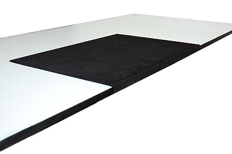 Sottomano da scrivania base 580 x 390 mm panno in microfibra effetto