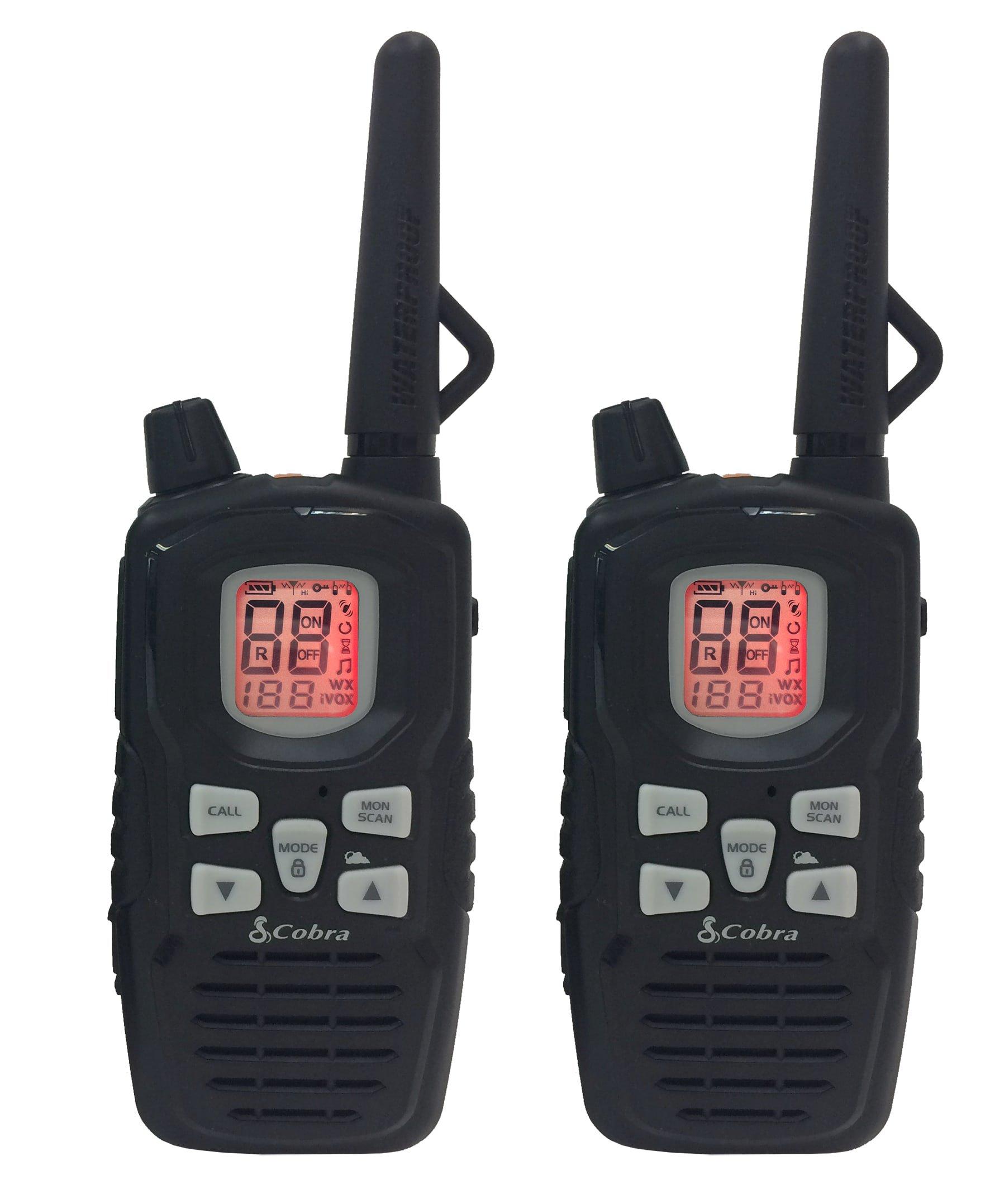 Cobra CXY900 Walkie Talkies 40-Mile Two-Way Radios, Rechargeable (Pair)