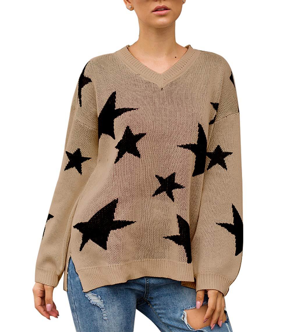 PRETTYGARDEN Star Print Sweatshirt