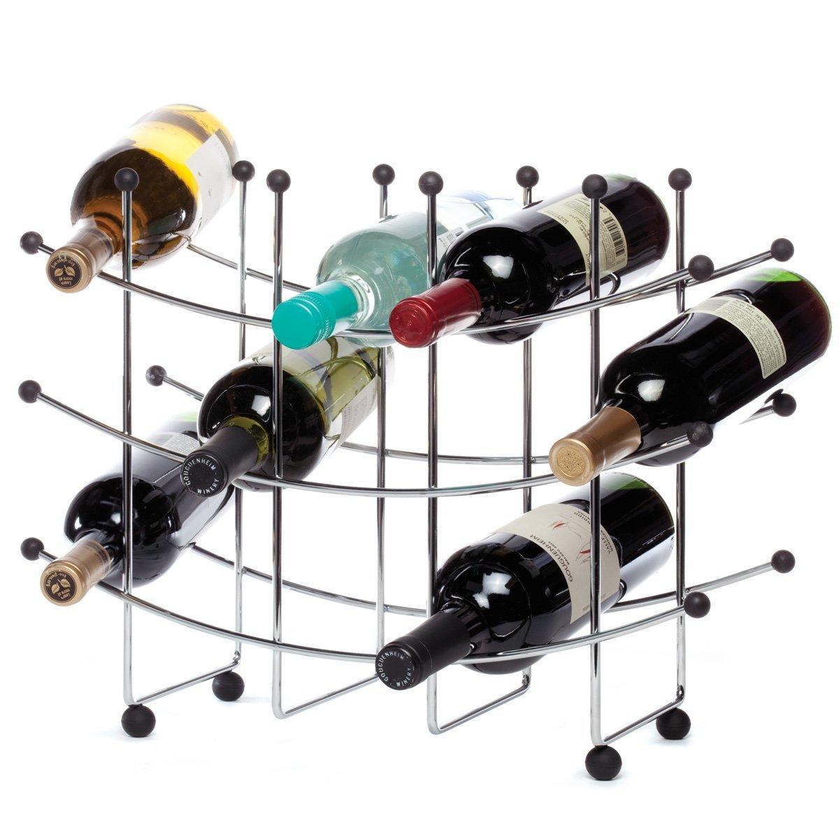 Amazoncom Oenophilia Fusion Wine Rack 15 Bottle Home Kitchen