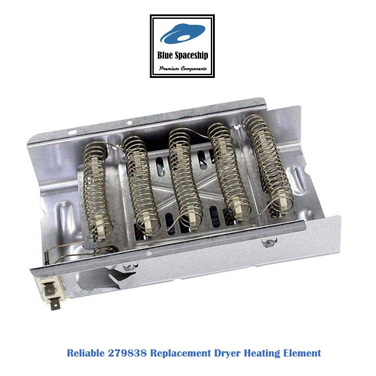 Reliable 279838 Dryer Heating Element Replacement Part Fit for Whirlpool, KitchenAid, Roper, Maytag Dryers, Replace part No. 3403585, 8565582, PS3343130 & AP3094254