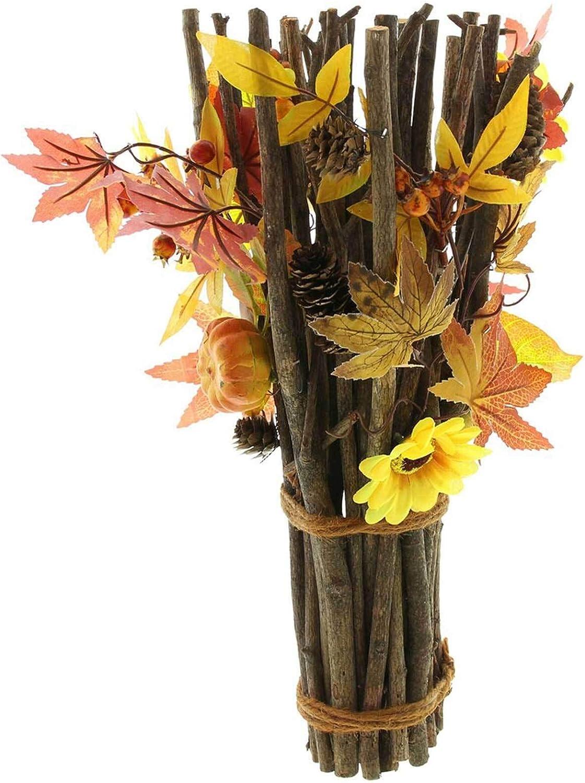 SIDCO Bündel Herbst Gesteck Herbstdeko Kürbisse Herbstgesteck Bunte Blätter  Deko