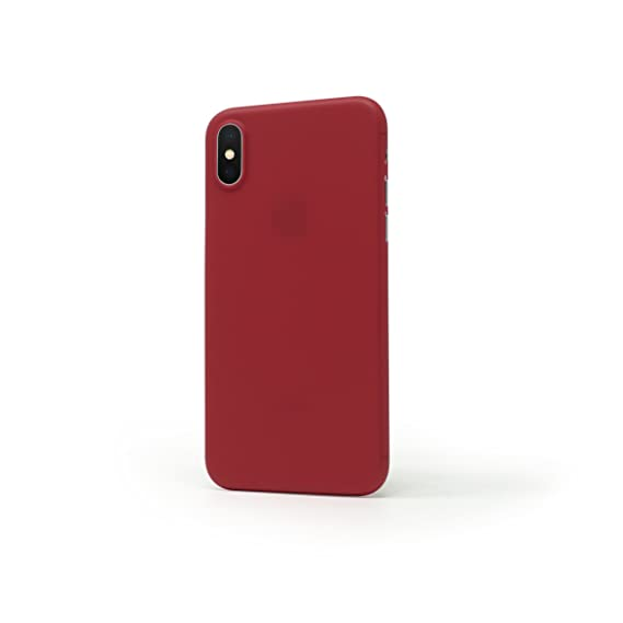 reputable site e2d11 32bdf Casedodo Air Ultra Thin Matte Finish Back Plain Case Cover for Apple iPhone  X (Chilli Pepper)