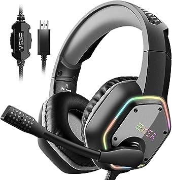 EKSA E1000 USB Gaming Headset for PC