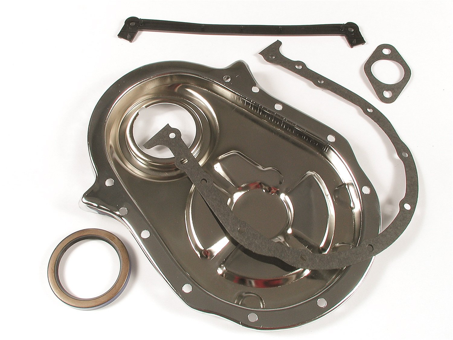 Gasket 4591 Chrome Plated Timing Cover Mr Gasket Mr