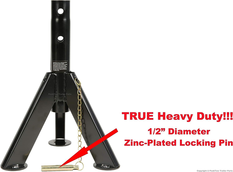 PEAKTOW PTJ0622 Telescopic Trailer RV Camper Stabilizer Jack 6000 Lbs Load Capacity 2PK