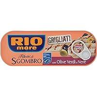 Rio Mare Filetti di Sgombro Grigliati con Olive Verdi e Nere, Ricco di Omega 3-120 gr