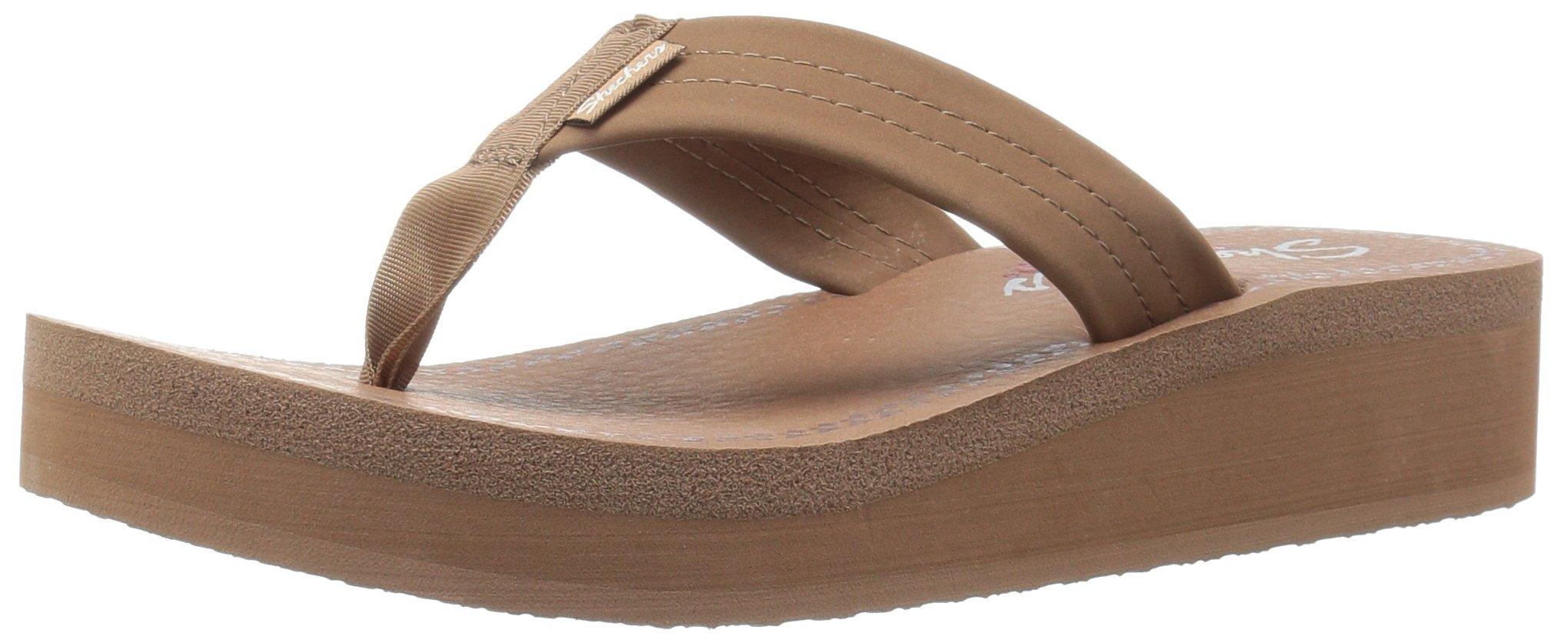 7c2f08fb399 Galleon - Skechers Cali Women s Vinyasa Beach Bae Wedge Sandal