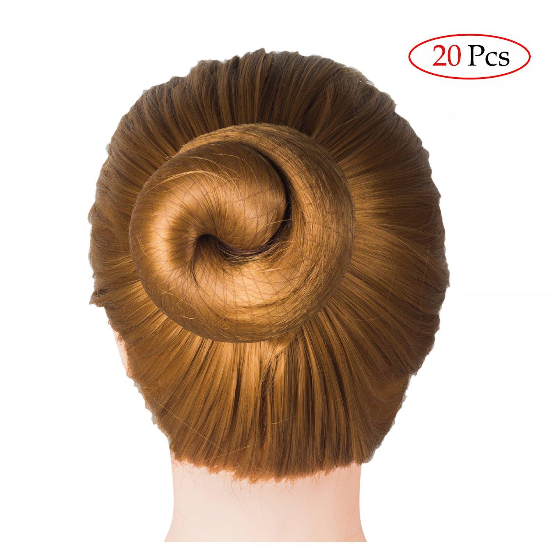 Deoot 20 Pcs Invisible Hair Nets Elastic Edge Mesh for Women Bun,Coffee