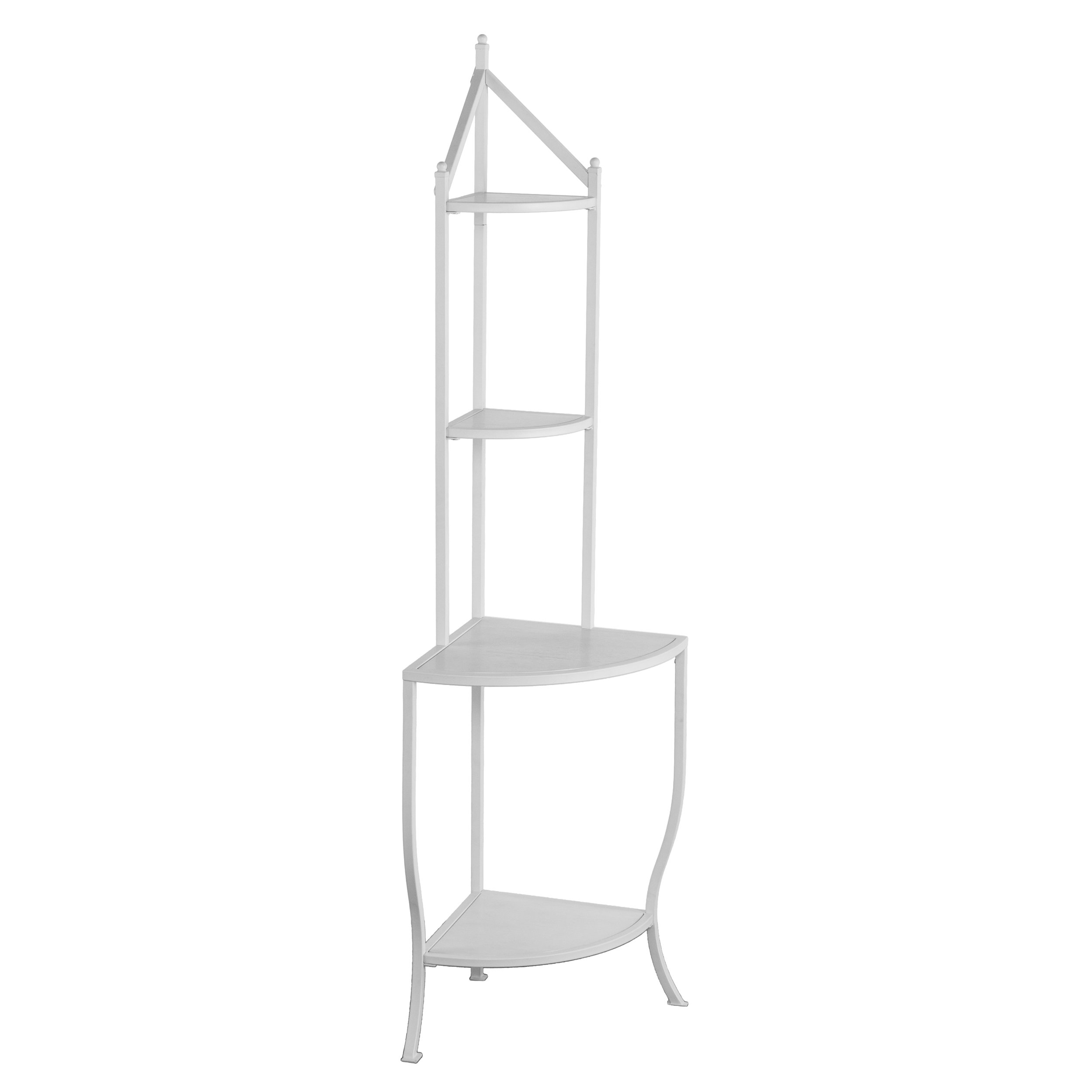 Furniture HotSpot Corner Bakers Rack - White - 25.5'' W x 18'' D x 76'' H by Furniture HotSpot (Image #1)