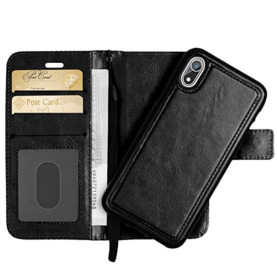 competitive price 2a1f1 e45f5 Detachable Wallet Case for iPhone XR 6.1