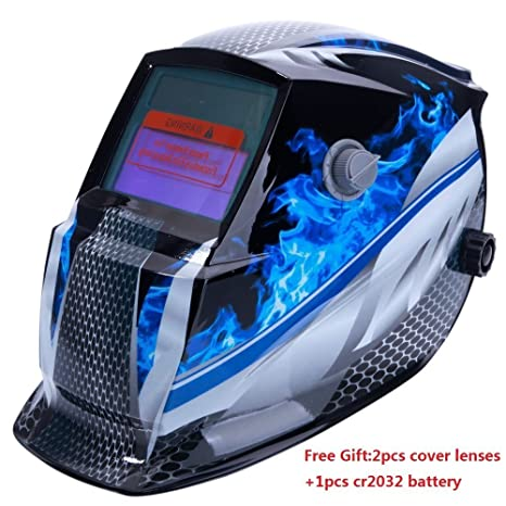 Z ZTDM Welding Helmet Mask Solar Auto Darkening,Adjustable Shade Range DIN 9-13