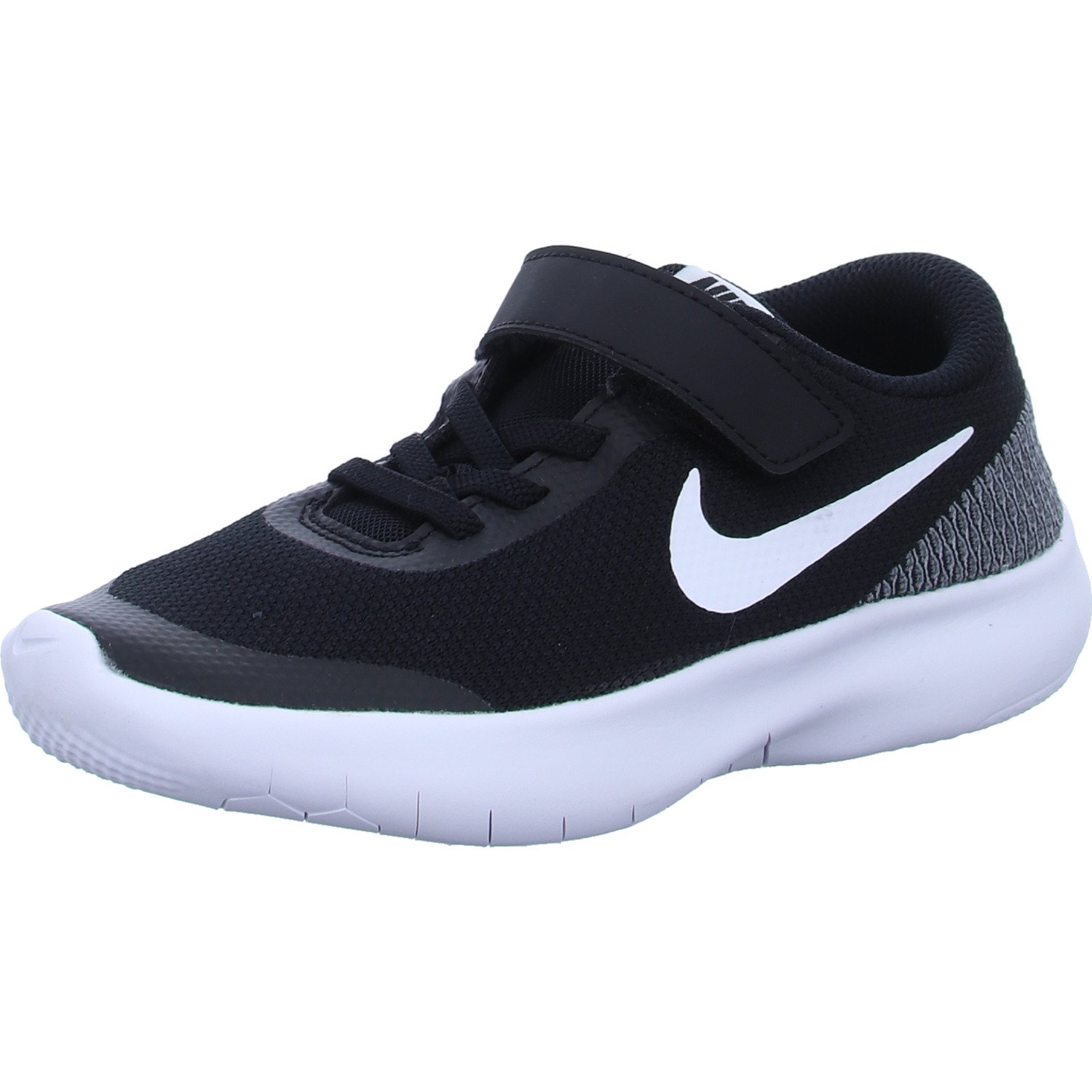 Nike Boy's Flex Experience RN 7 (PSV) Running Shoes (1 M US Little Kid, Black/White/White)