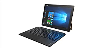 Lenovo IdeaPad Miix 700, 12.2-Inch Windows Laptop, 2 in 1 Laptop, (Intel Core m7-6Y30, 1.2 GHz, 8GB DDR3, 256 GB SSD, 64 Bit, Windows 10), Gold, 80QL000BUS