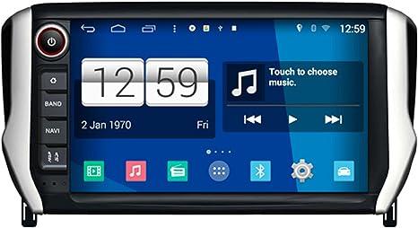 roverone Android Sistema 8 Inch Autoradio GPS para PEUGEOT 208 2008 2014 2015 con sistema de navegación radio estéreo DVD Bluetooth SD USB pantalla táctil: Amazon.es: Electrónica