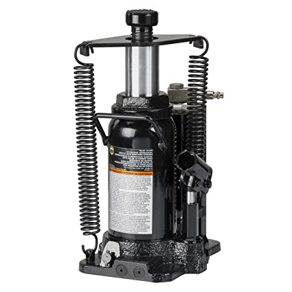 Amazon.com: Omega 18126C Black Hydraulic Bottle Jack with Return Springs - 12 Ton Capacity: Automotive