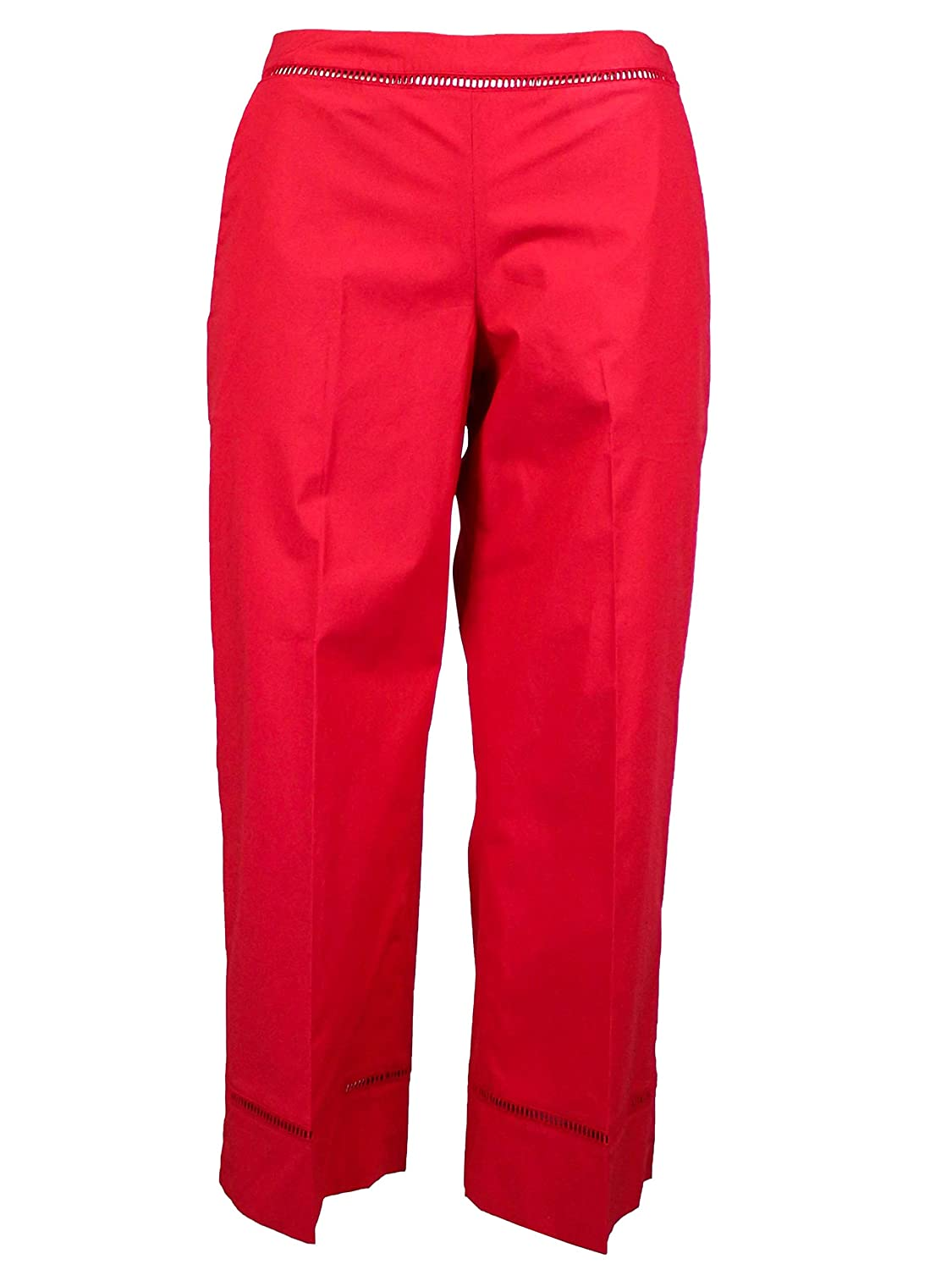 TwinSet Women's 191TT224403725 Red Cotton Pants