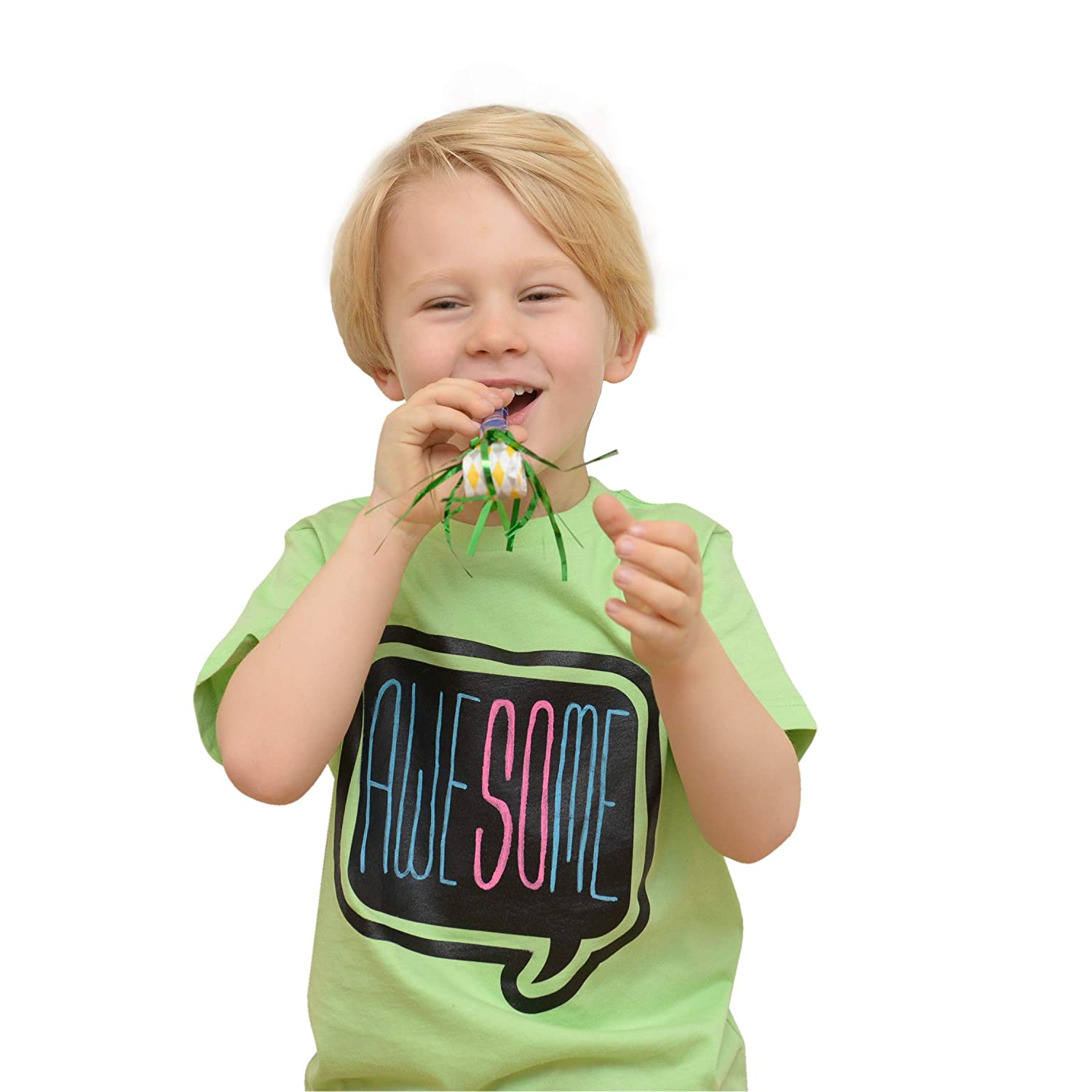 Chalk of the Town Chalkboard T-Shirt Kit for Kids Short Sleeve Lime Speech Bubble w//3 Markers and Stencil Youth Extra-Small
