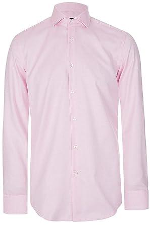 682031c3 Amazon.com: Hugo Boss Men's 'Jason' Pink Slim Fit Micro Dot Cotton ...
