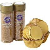 Wilton Sparkle and Shine Gold Cupcake Decorating Set