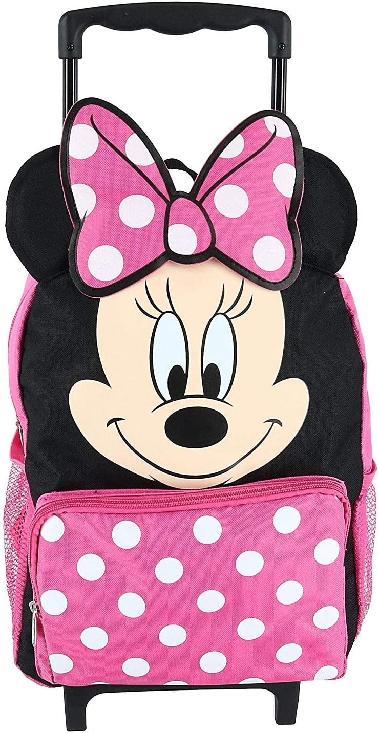 """Disney Minnie Mouse 14"""" Softside Rolling Backpack"""