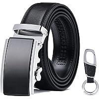 flintronic Herrbälte, läder piggspänne business bälte läderimitation 125 cm för män