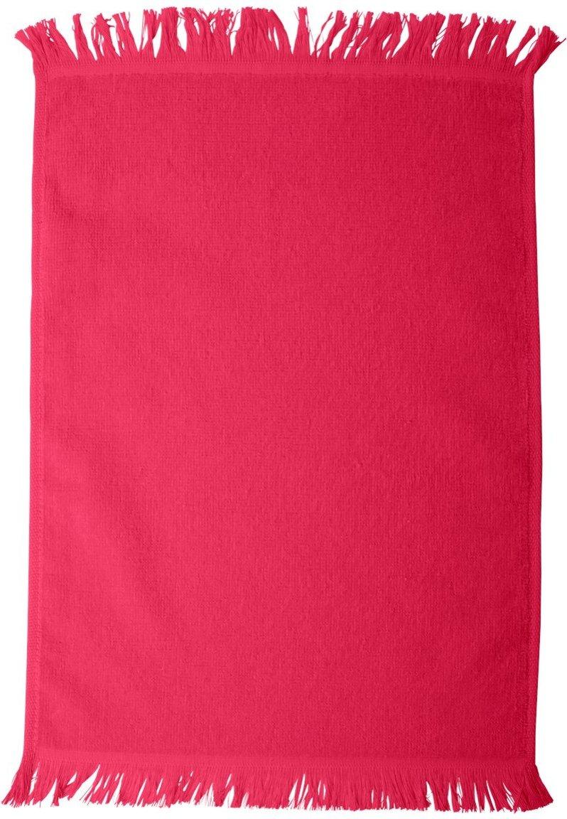Anvil Fringed Fingertip Comfort Towel, Black, One Size Towels Plus T600