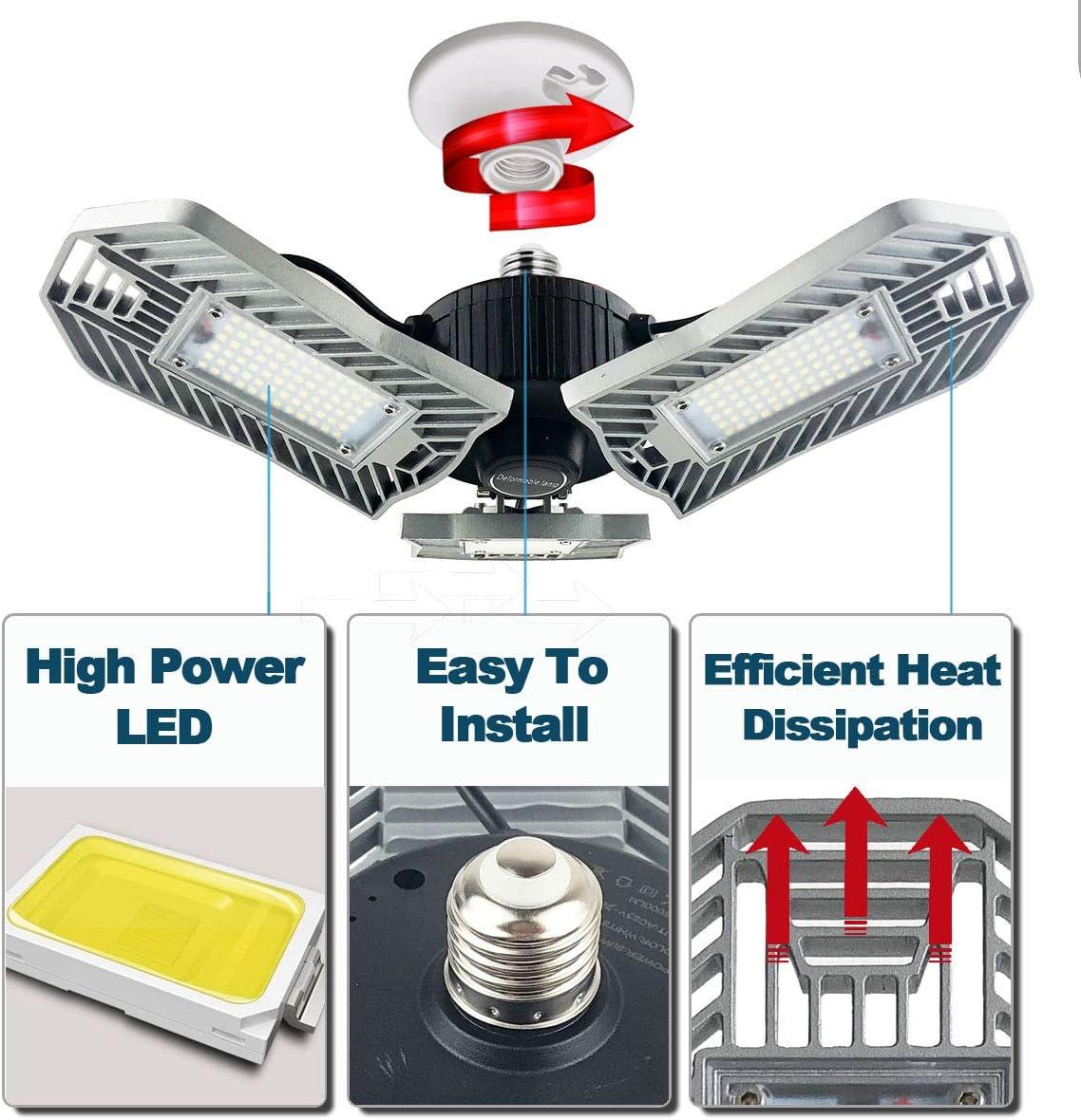 8er Set LED Ceiling Bath Lights Garage Daylight Wet Room Tube Heater