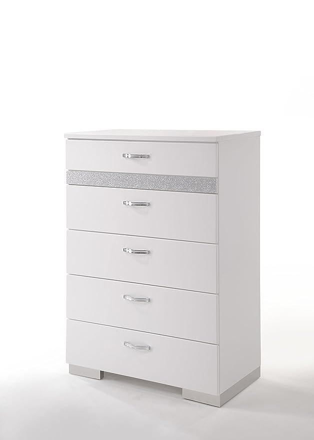 Amazon.com: Acme muebles 26776 Naima II pecho, color blanco ...