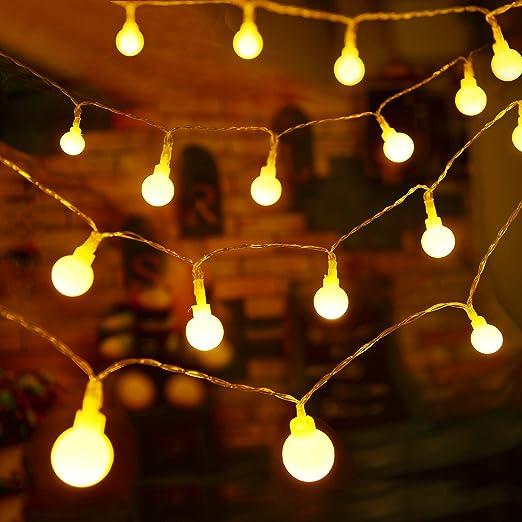 TOPLUS 10M Guirnalda Luces de Navidad 80 Bombillas Luminosas Guirnalda Navidad Luces led Guirnalda Led Pilas Luces Decorativas Guirnaldas Decorativas Interiores Luz Cálida LED, Jardines, Casas,Boda: Amazon.es: Jardín
