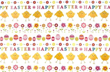 Happy easter gift wrap wrapping paper 2 sheets spring flowers chicks happy easter gift wrap wrapping paper 2 sheets spring flowers chicks and eggs negle Choice Image