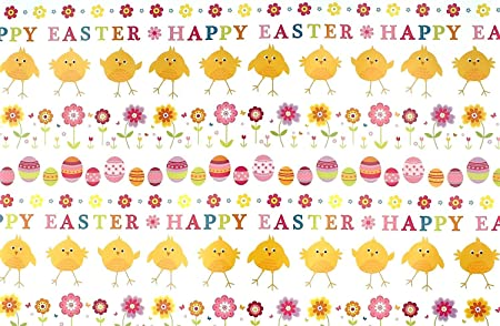 Happy easter gift wrap wrapping paper 2 sheets spring flowers happy easter gift wrap wrapping paper 2 sheets spring flowers chicks and eggs negle Image collections
