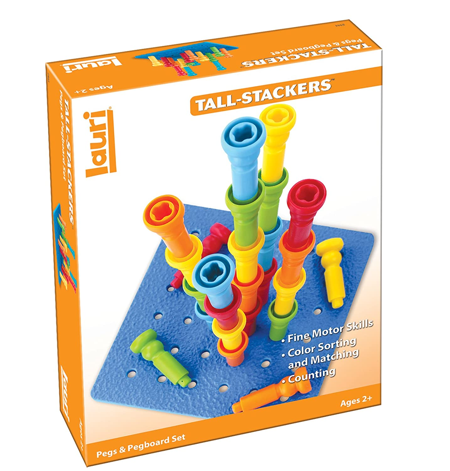 Amazon Lauri Tall Stackers Pegs and Pegboard Set Toys & Games