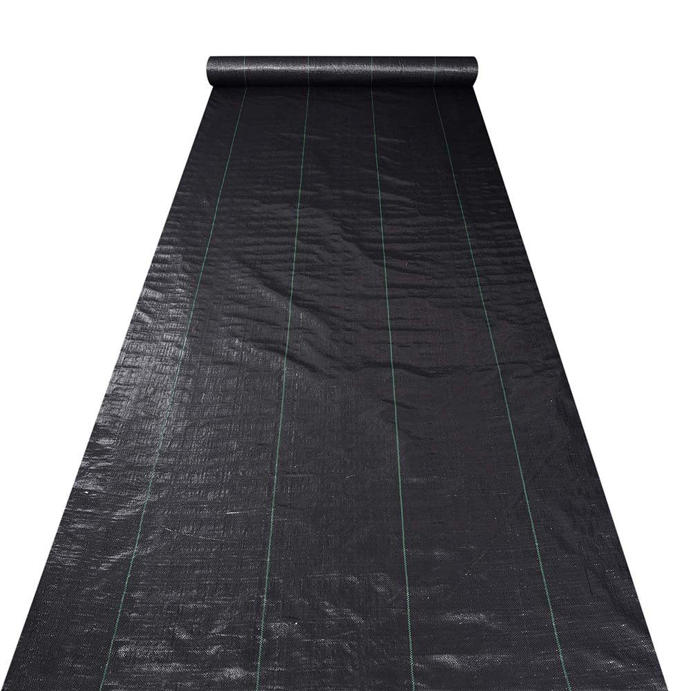Yescom 4ft x 250ft Landscape Fabric 4.1oz Weed Barrier Woven PP with UV Treated Block Mat Ground Cover Outdoor Garden