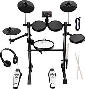 Asmuse Electronic Drum Set Kit for Adults Beginners with 8 inch Mesh Snare Electric Drum Set with Rim Shot and Cymbal Choke Function,USB MIDI Supported,2...