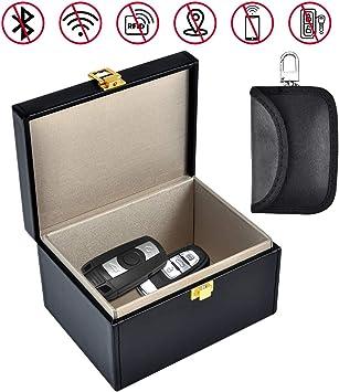 Faraday - Caja de Seguridad para Llaves de Coche con Bloqueo de señal RFID, tamaño Grande, antirrobo, sin Llave: Amazon.es: Electrónica