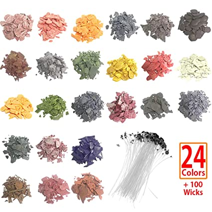Amazon.com: SthAbt - 24 Color Candle Dye Natural Soy Candle Wax ...