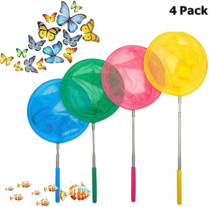 Outdoors Child Kids Extendable Crab Net Telescopic Fishing Bug Butterfly Catcher