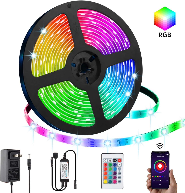 5M Bluetooth Control Smart RGB LED Strip Light USB Sync Fairy Lights Party Music