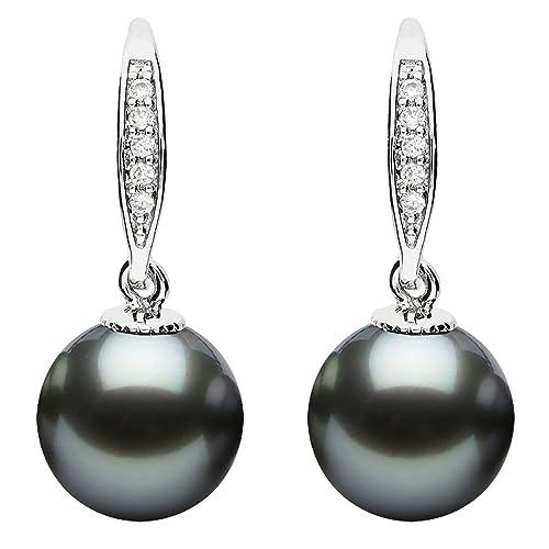 766d7b86dee2 MYA Art - Pendientes colgantes con perlas y circonitas, chapado en ...
