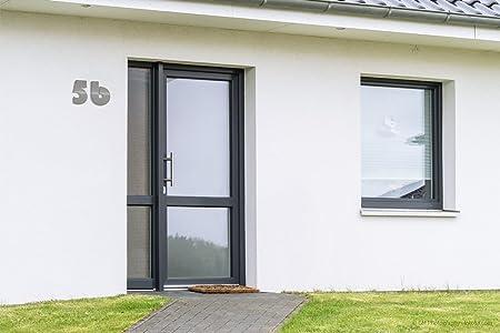 Thorwa Design – Número de Casa 3 de acero inoxidable estilo Bauhaus, acero inoxidable cepillado/pulido, H: 160 mm/16 cm: Amazon.es: Bricolaje y herramientas