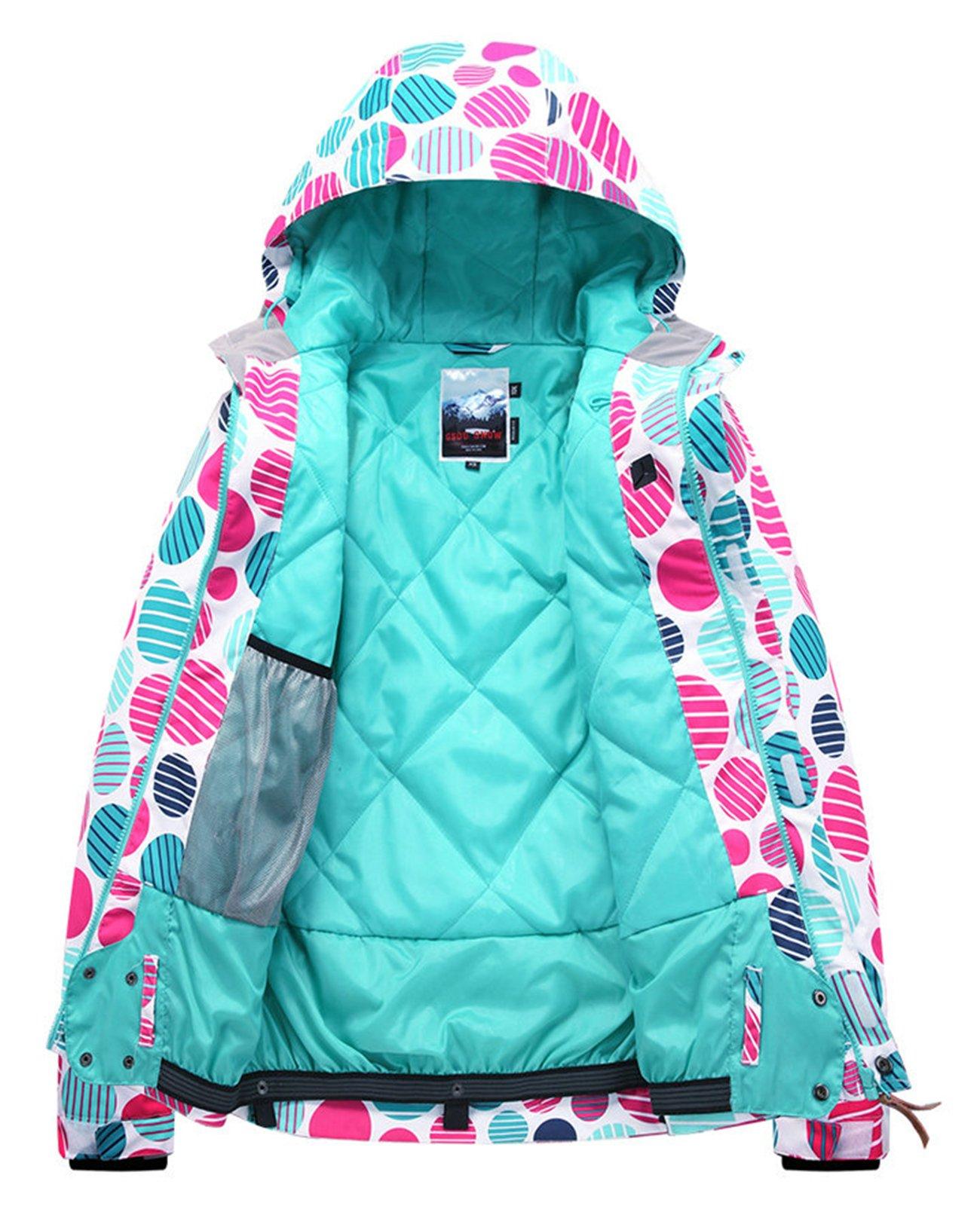 APTRO Women's High Windproof Technology Colorfull Printed Ski Jacket Style #37 Size S by APTRO (Image #3)